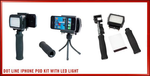 Dot Line iPhone Pod Kit With LED Light