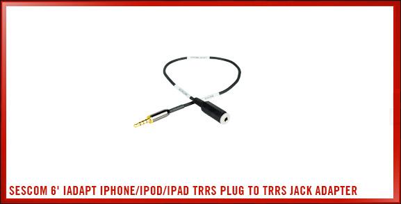 Sescom 6' (182.9 cm) iAdapt iPhone/iPod/iPad TRRS Plug to TRRS Jack Adapter