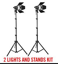 Impact Qualite 300 Focusing Flood 2 Light Kit